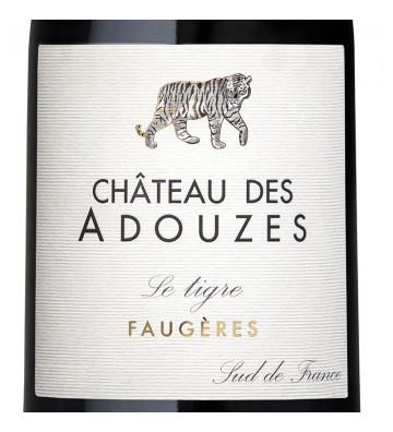 Etiquette Le Tigre, Chateau des Adouzes - AOP Faugères.