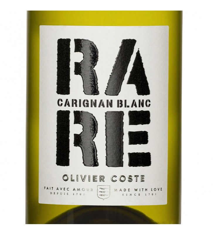Etiquette Carignan Blanc, Rare par Olivier Coste